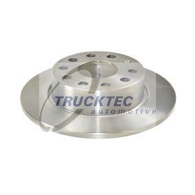 Bremsscheibe Bremsscheibendicke: 10mm, Lochanzahl: 5, Ø: 272mm mit OEM-Nummer 1K0 615 601 AA