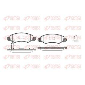 Bremsbelagsatz, Scheibenbremse Höhe: 44,5mm, Dicke/Stärke: 15,7mm mit OEM-Nummer 55810-84E01-000