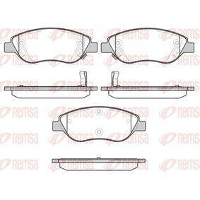 REMSA  0860.12 Bremsbelagsatz, Scheibenbremse Höhe: 57,5mm, Dicke/Stärke: 19mm