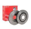 Discos de freno BREMBO 8712534 Perforado/ventil. int., revestido, altamente carbonizado, con tornillos