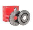 Frenos de disco BREMBO 8712534 Perforado/ventil. int., revestido, altamente carbonizado, con tornillos