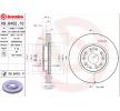 BREMBO COATED DISC LINE Комплект спирачни дискове LEXUS вътрешновентилиран, с покритие