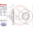 BREMBO COATED DISC LINE Set discuri frana LEXUS ventilat interior, acoperit (cu un strat protector)