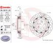 BREMBO TWO-PIECE FLOATING DISCS LINE Bromsskivor Bromsskiva tvådelad, slitsad/ventilerad, Ventilerad inifrån, belagd, höguppkolat, med skruvar