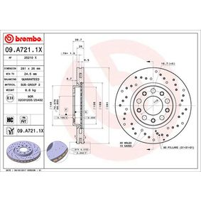 Article № 09.A721.1X BREMBO prices