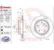 BREMBO COATED DISC LINE Innenbelüftet, beschichtet, hochgekohlt, mit Schrauben 09B33811