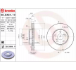 BREMBO COATED DISC LINE Bremsscheibe LEXUS Innenbelüftet, beschichtet, hochgekohlt