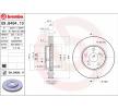 BREMBO COATED DISC LINE Set discuri frana LEXUS ventilat interior, acoperit (cu un strat protector), continut ridicat de carbon