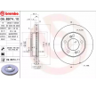 Brake disc kit SSANGYONG KYRON 2015 year 8714255 BREMBO Internally Vented, Coated, High-carbon, with screws