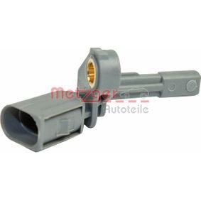 Sensor, Raddrehzahl Pol-Anzahl: 2-polig mit OEM-Nummer 1K0927807A