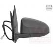 Offside wing mirror VAN WEZEL 8718281 Left, Complete Mirror, Convex, for electric mirror adjustment, Heatable, Primed