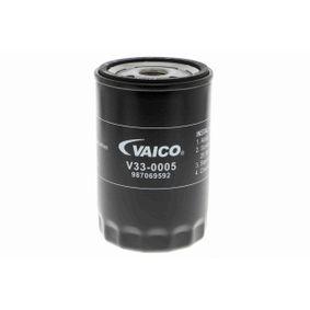 VAICO Ölfilter V33-0005 für AUDI 80 (8C, B4) 2.8 quattro ab Baujahr 09.1991, 174 PS