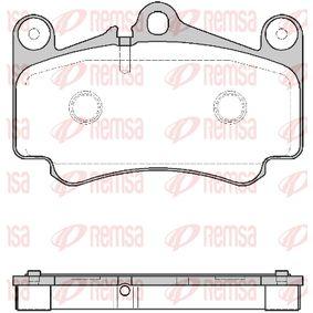 Bremsbelagsatz, Scheibenbremse Höhe: 87,2mm, Dicke/Stärke: 16,8mm mit OEM-Nummer 99635194912