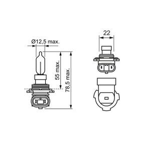 Bulb, spotlight HIR2 12V 55W PX22d 1 987 302 026 VAUXHALL ASTRA, INSIGNIA, ZAFIRA
