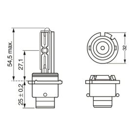 Glühlampe, Fernscheinwerfer D2S (Gasentladungslampe), 35W 1 987 302 910