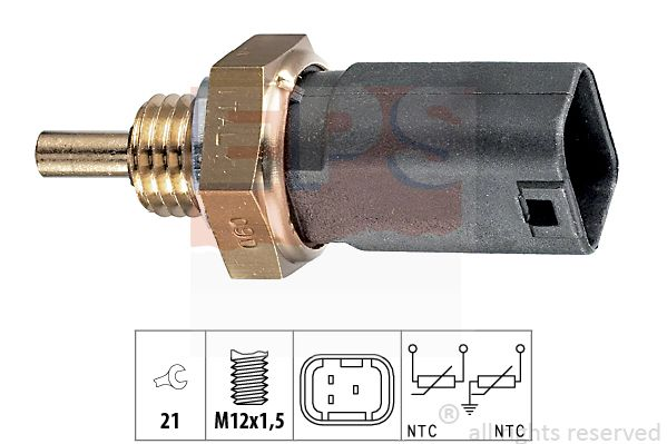 EPS  1.830.252 Sensore, Temperatura refrigerante Apert. chiave: 21