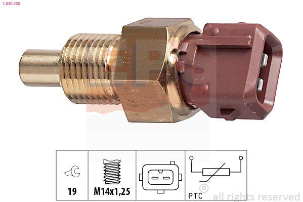 EPS  1.830.308 Sensor, temperatura del refrigerante Ancho llave: 19