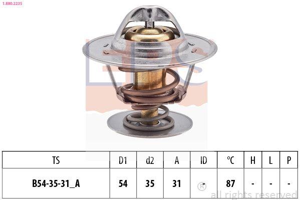 EPS  1.880.223S Thermostat, coolant D1: 54mm, D2: 35mm