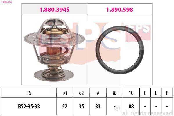 EPS  1.880.394 Thermostat, Kühlmittel D1: 52mm, D2: 35mm