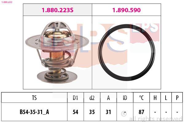 EPS  1.880.432 Thermostat, coolant D1: 54mm, D2: 35mm