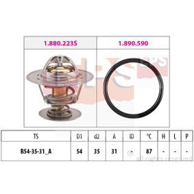 Thermostat, coolant D1: 54mm, D2: 35mm with OEM Number 068.121.113H