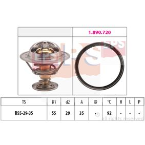 Thermostat, coolant D1: 55mm, D2: 29mm with OEM Number 04L 121 026 N
