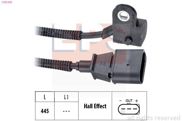 EPS  1.953.422 Sensor, posición arbol de levas Long. cable: 445mm