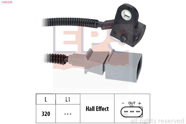 EPS  1.953.535 Sensor, posición arbol de levas Long. cable: 320mm
