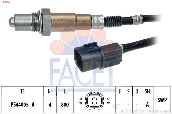 FACET  10.8258 Lambdasonde Kabellänge: 800mm