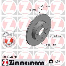 Bremsscheibe Bremsscheibendicke: 13mm, Lochanzahl: 4, Ø: 257mm mit OEM-Nummer 431.615.301