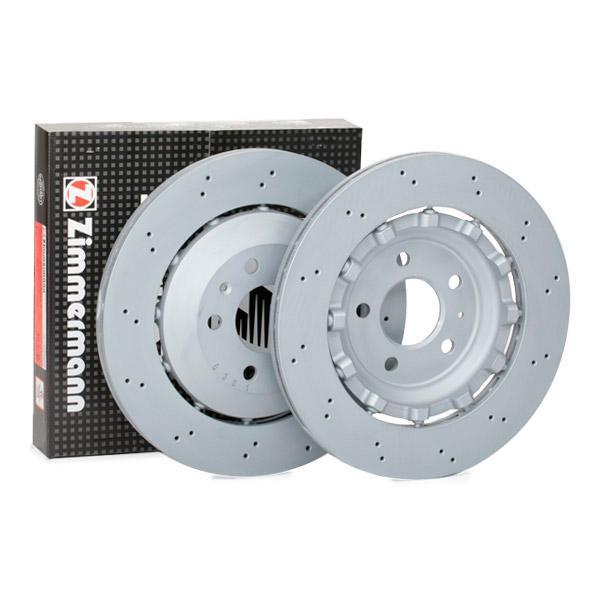 ZIMMERMANN FORMULA Z COAT Z 100.3366.70 Bremsscheibe Bremsscheibendicke: 22mm, Lochanzahl: 5, Ø: 330mm
