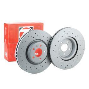 Bremsscheibe Bremsscheibendicke: 34mm, Lochanzahl: 5, Ø: 349mm mit OEM-Nummer 4M0 615 301AB