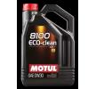 Koop online goedkoop Motorolie 8100, ECO-CLEAN, 0W-30, 5L van MOTUL - EAN: 3374650238395