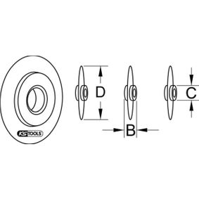 Roda de corte, corta-tubos