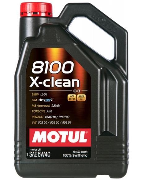 Motorolaj MOTUL 8100XCLEAN5W40 3374650251851