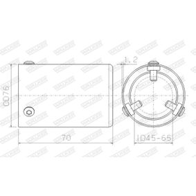 Deflector tubo de escape 10682 CITROËN C3, C2, DS3