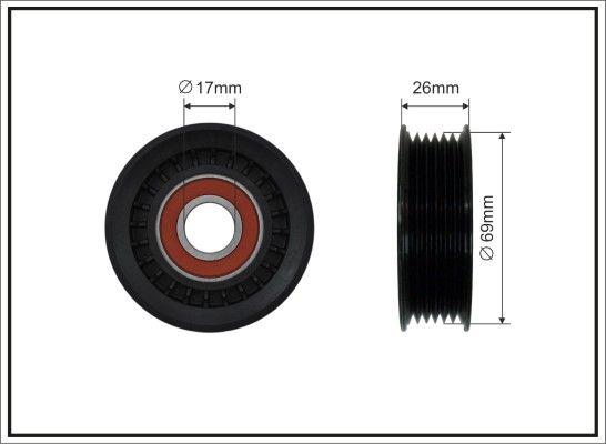 CAFFARO  107-00 Spannrolle, Keilrippenriemen Breite: 22,5mm