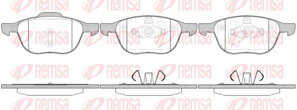 KAWE  1082 00 Bremsbelagsatz, Scheibenbremse Höhe 1: 62,5mm, Höhe 2: 67,2mm, Dicke/Stärke: 18mm