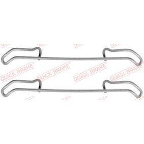 Accessory Kit, disc brake pads 109-1056 PUNTO (188) 1.2 16V 80 MY 2006