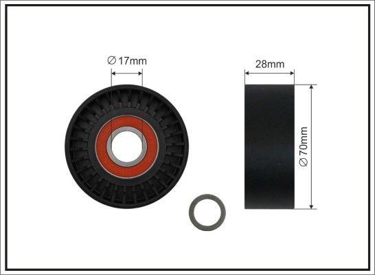 CAFFARO  11-90 Spannrolle, Keilrippenriemen Breite: 28mm