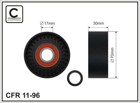 CAFFARO  11-96 Spannrolle, Keilrippenriemen Breite: 30mm