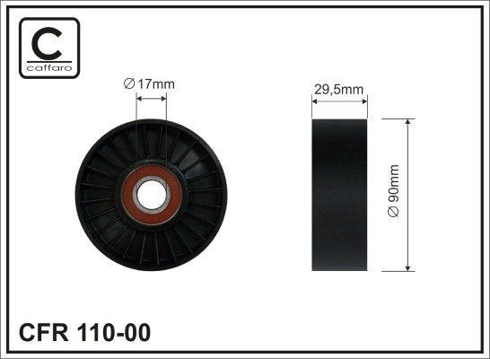 CAFFARO  110-00 Spannrolle, Keilrippenriemen Breite: 29,5mm