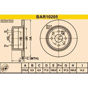 Bremsscheibe Art. Nr. BAR10205 120,00€