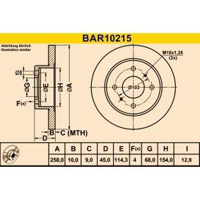 Bremsscheibe Art. Nr. BAR10215 120,00€