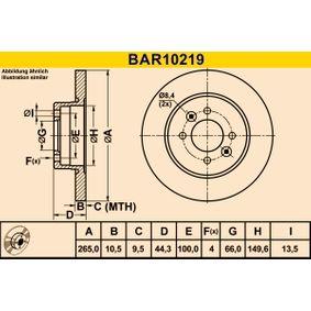 Bremsscheibe Art. Nr. BAR10219 89,00€