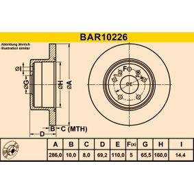 Bremsscheibe Bremsscheibendicke: 10,0mm, Lochanzahl: 5, Ø: 286,0mm mit OEM-Nummer 483 933 8