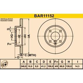 Bremsscheibe Art. Nr. BAR11152 120,00€