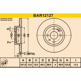 BARUM спирачен диск (BAR12127) за с ОЕМ-номер 51859075