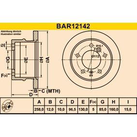 Bremsscheibe Art. Nr. BAR12142 120,00€