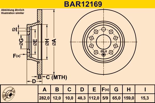 Scheibenbremsen Barum BAR12169 Bewertung